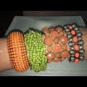Lot of 4 stretchy bracelets!! Make offer✨🤩🌟